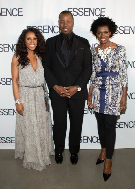 Celebrity stylist June Ambrose, celeb hairstylist Ted Gibson and ESSENCE Editor-in-Chief Constance C.R. White