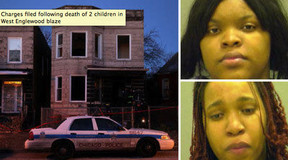Tatiana Meakens and Britany Meakens are charged with endangering a child for deaths of two toddlers who died in a fire