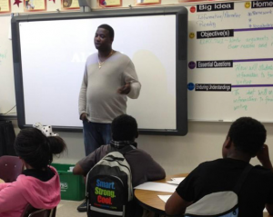 Atlanta rapper Gucci Mane attended Career Day at Crawford Long MIddle School to address the children.