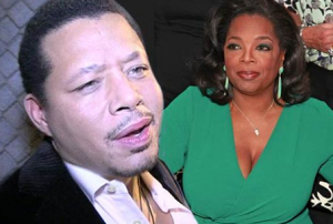 Oprah responds to Terrence Howard's remark about her breasts.