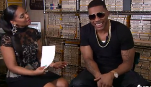 Ex-lovers Ashanti and Nelly discuss the type of girls Nelly likes.
