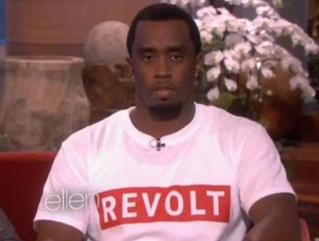 Diddy tears up discussing father's determination.