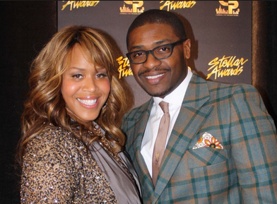 Tina Campbell with her husband