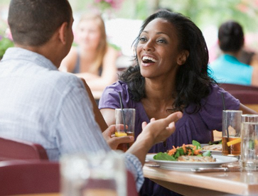 A married woman asks Demetria Lucas of the Root whether or not she's cheating by eating lunch with a male friend. www.naturallymoi.com