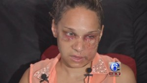 Catherine Ferreira was savagely beaten by Latia Harris in front of her two year old son. www.naturallymoi.com