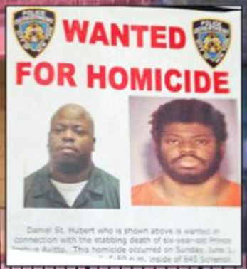 Daniel St. Hubert has been arrested a total of nine times and is arrested for murder and attempted murder of a 6 and 7 year old. www.naturallymoi.com