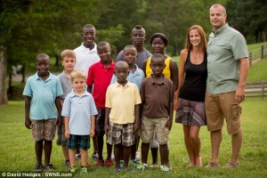 Hayley and Mike Jones adopt eight children from Sierra Leone. www.naturallymoi.com