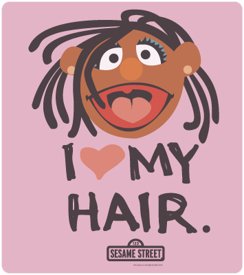 Joey Mazzarino of Sesame Street wanted to make his ethiopian daughter feel proud of her hair so he created the jingle I Love My Hair. www.naturallymoi.com