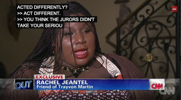 Rachel Jeantel blames herself for George Zimmerman verdict. www.naturallymoi.com
