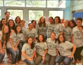 White female teachers wear t-shirt in support of officer www.naturallymoi.com