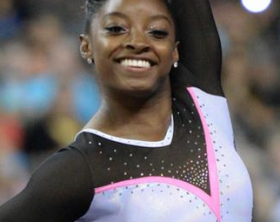 Simone Biles is slated to become a household name in gymnastics www.naturallymoi.com