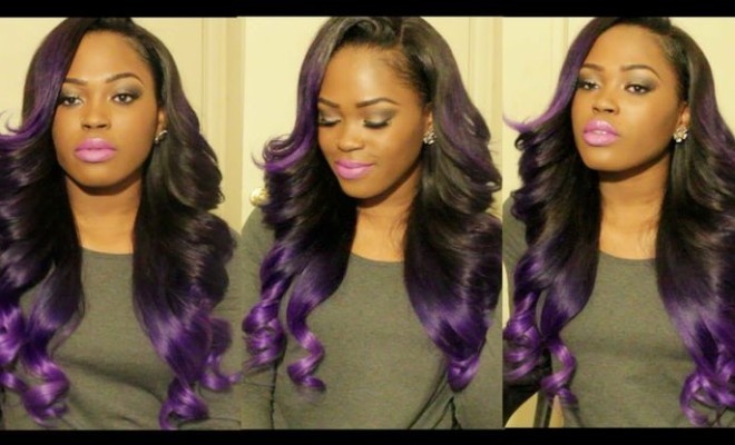 Naturally Triece Diy Beautiful Purple Ombre Hair That Will Turn Heads